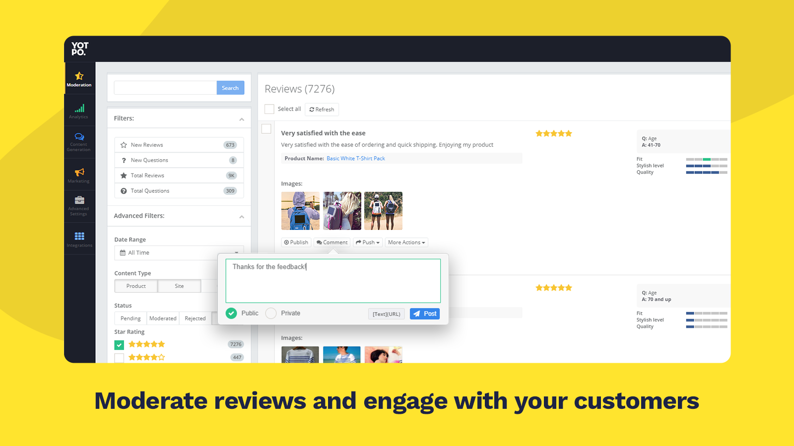 customer review software for websites