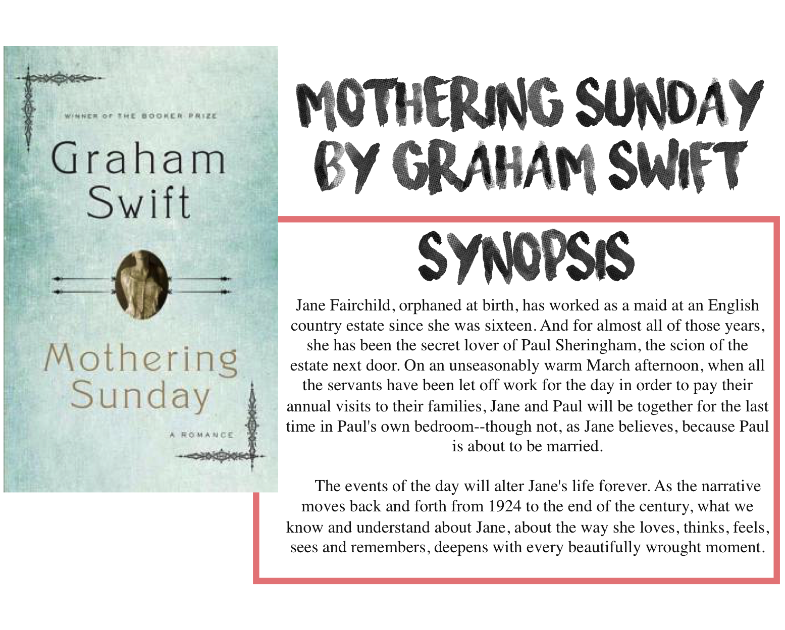 graham swift mothering sunday review