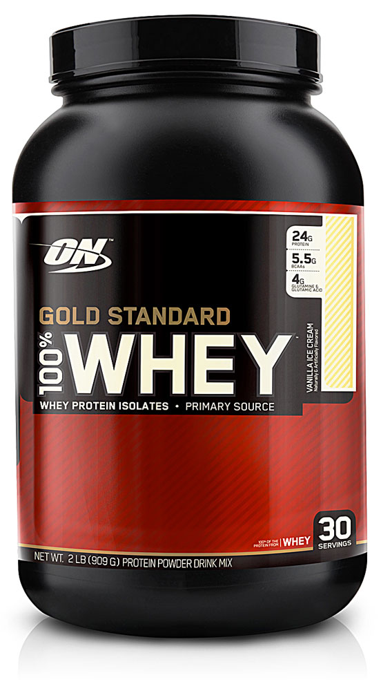 gold standard whey vanilla ice cream review