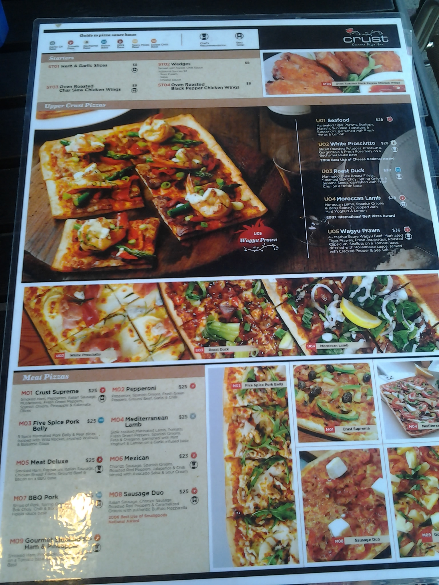 crust gourmet pizza bar review