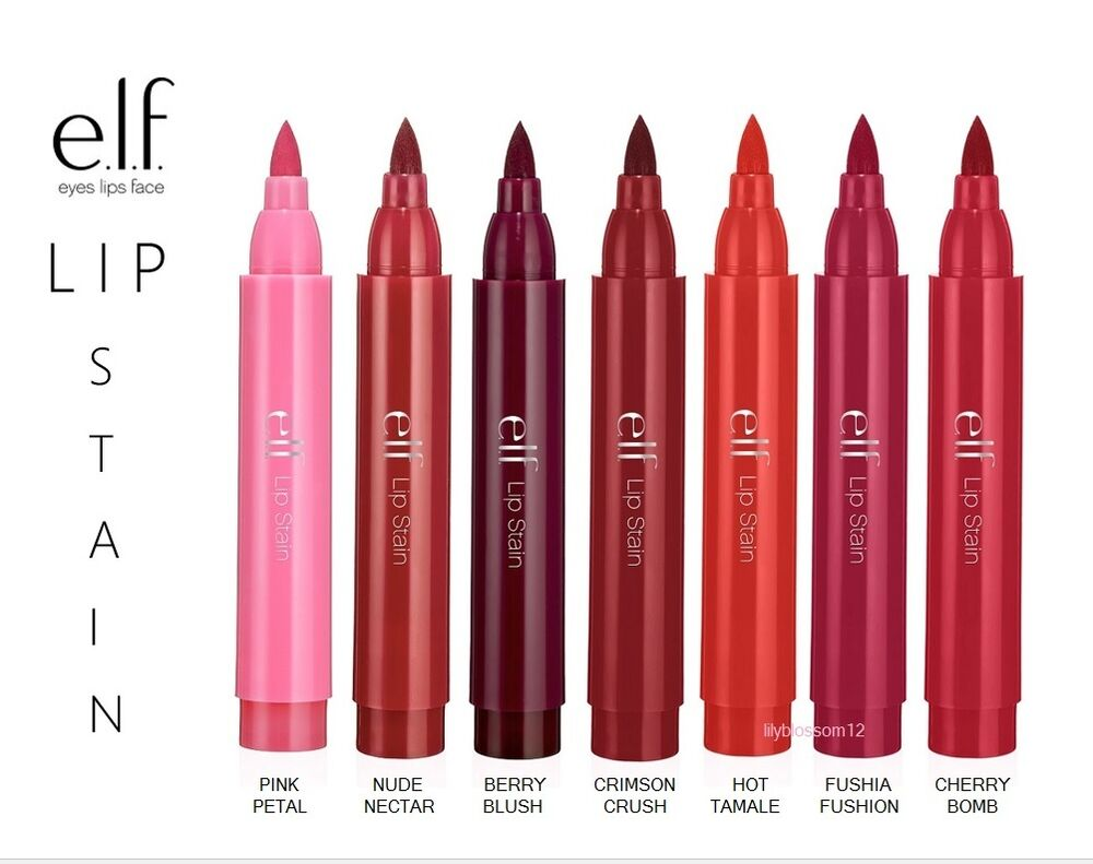 elf lip stain berry blush review
