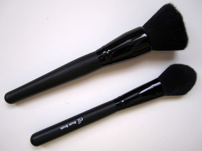 elf studio angled eyeliner brush review